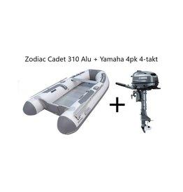 Zodiac Zodiac Cadet 310 Alu + Yamaha 4pk 4-takt (Vaarbewijsvrij!)