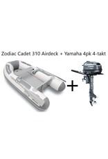 Zodiac Zodiac Cadet 310 Airdeck + Yamaha 4pk 4-takt (Vaarbewijsvrij!)