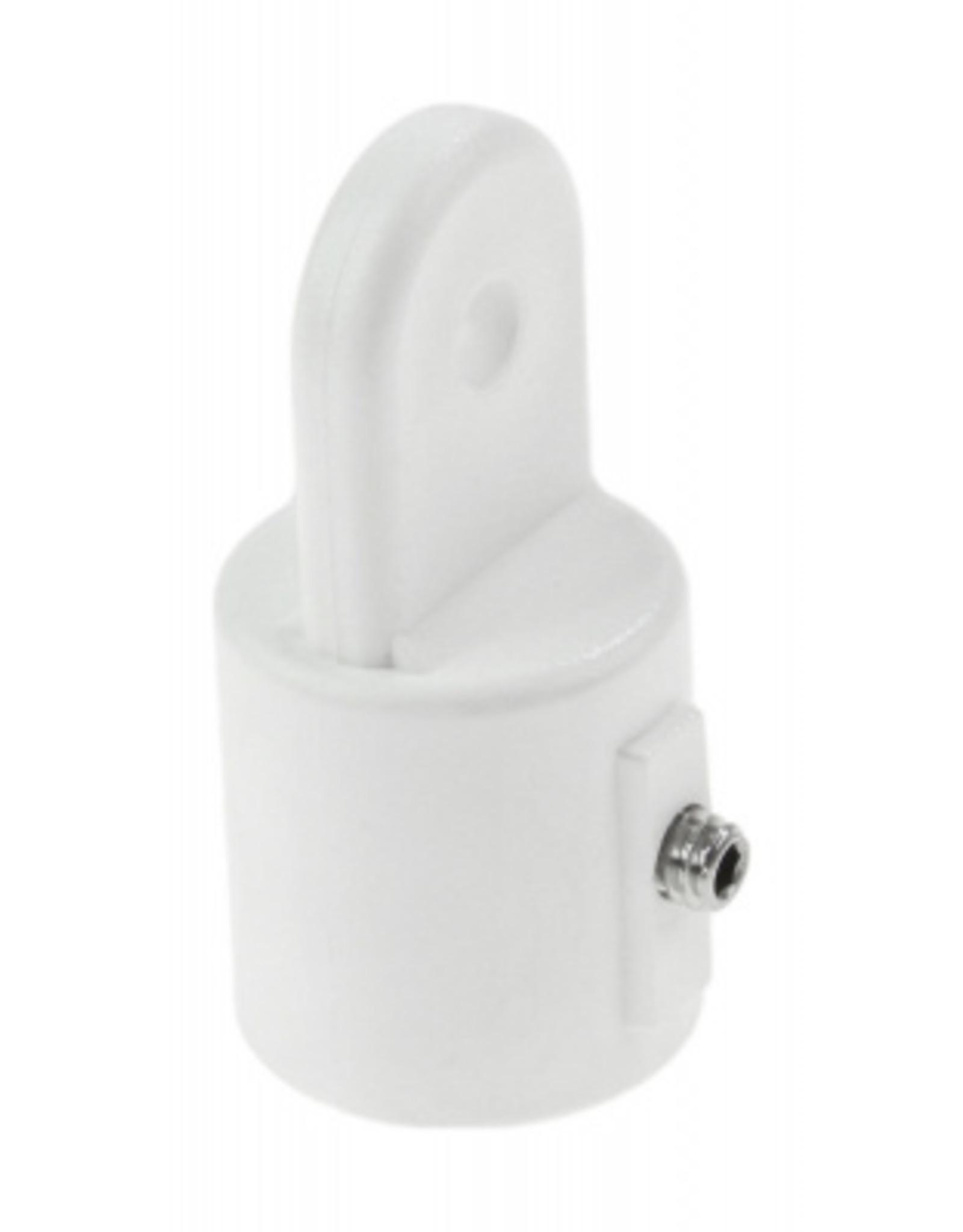 Bimini top eind dop wit/RVS