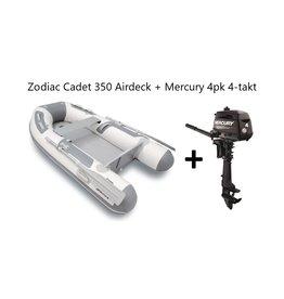 Zodiac Zodiac Cadet 350 Airdeck + Mercury 4pk 4-takt (Vaarbewijsvrij!)