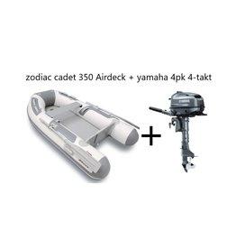 Zodiac Zodiac Cadet 350 Airdeck + Yamaha 4pk 4-takt (Vaarbewijsvrij!)