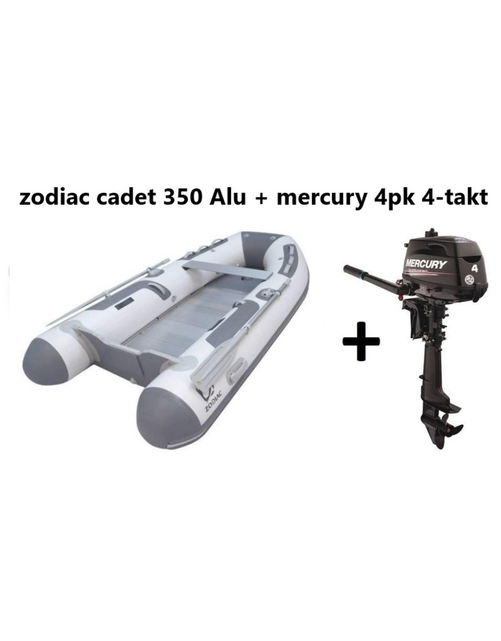 Zodiac Zodiac Cadet 350 Alu + Mercury 4pk 4-takt (Vaarbewijsvrij!)