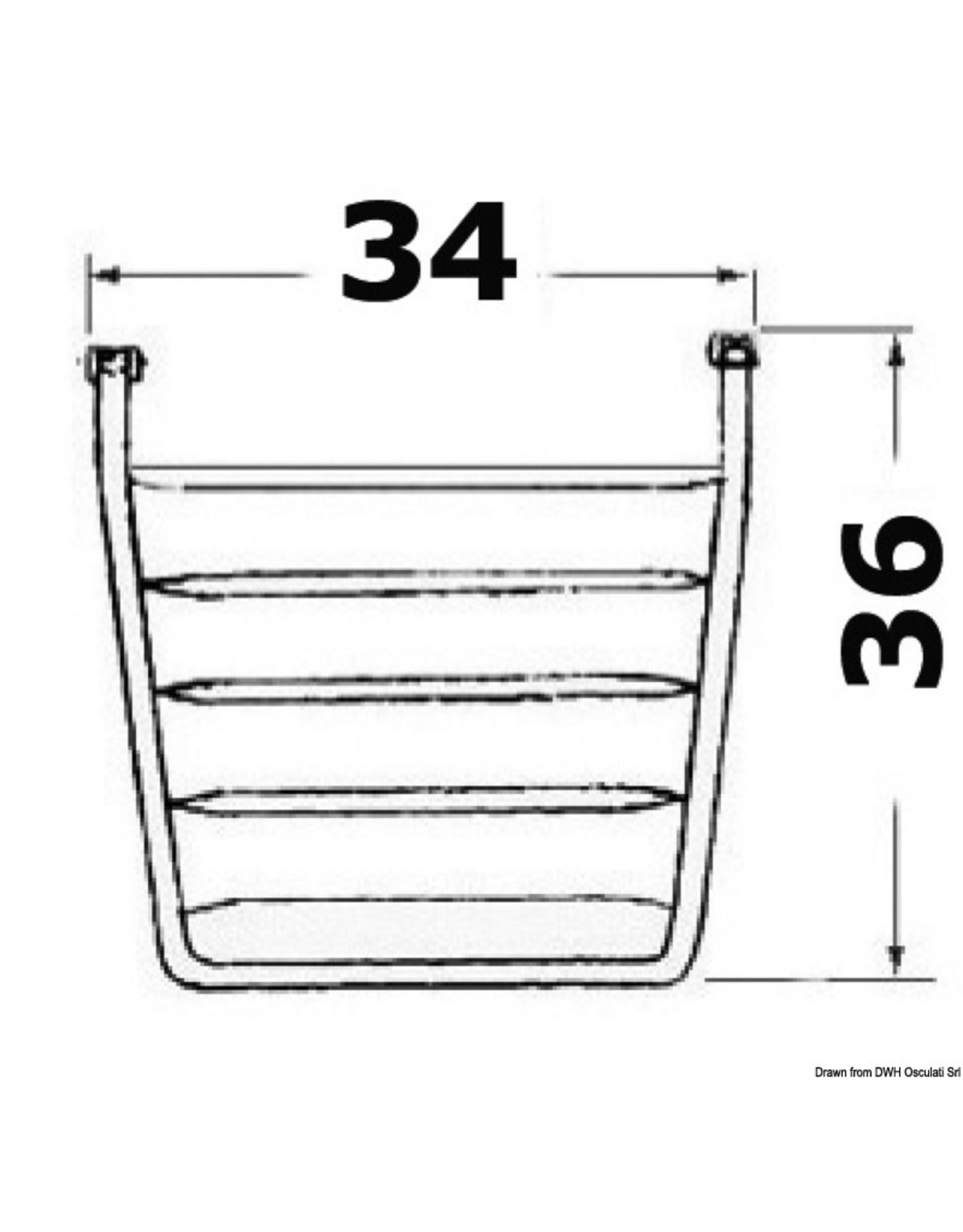 Osculati Mini plattform 36x34 cm