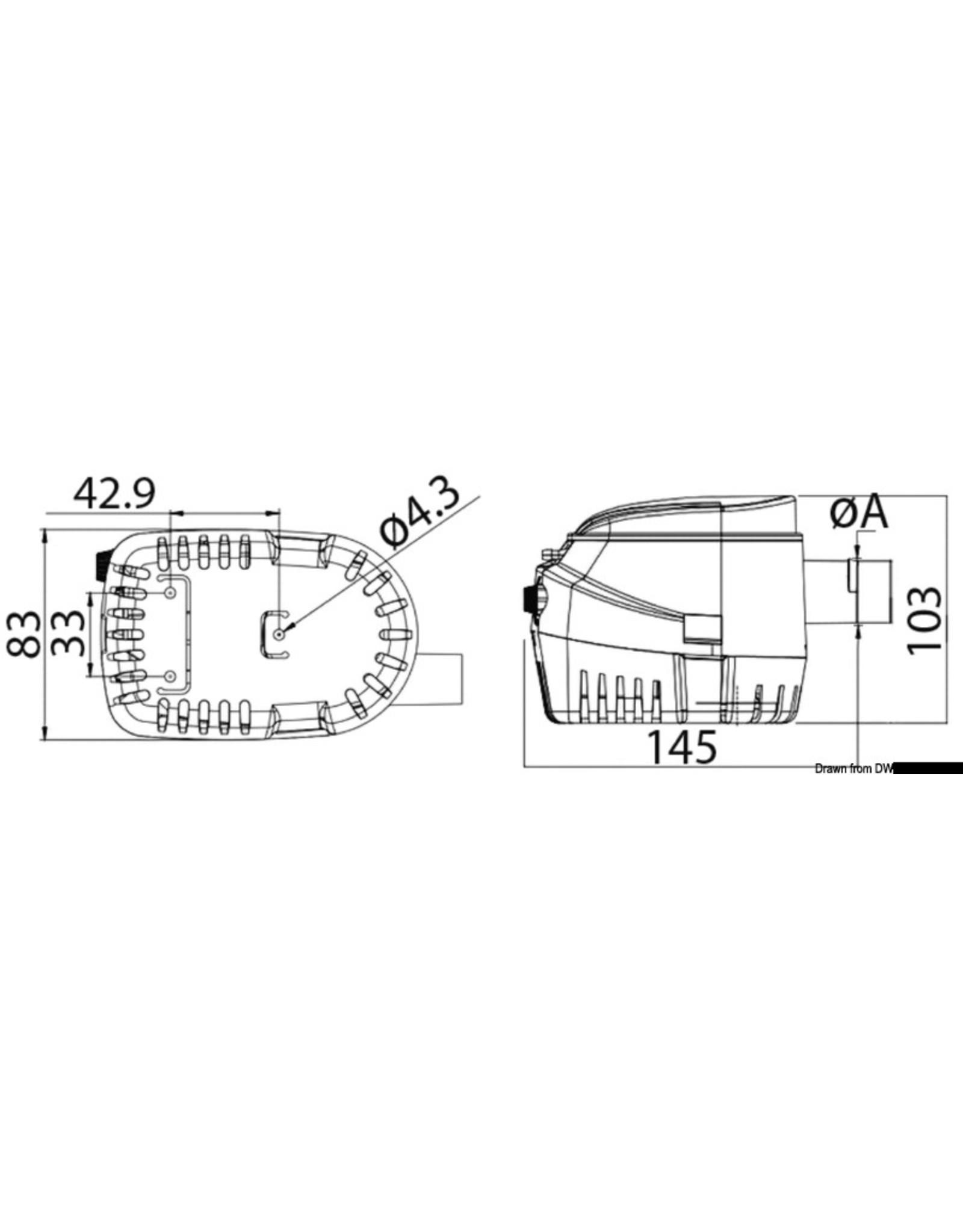 Osculati Europump II automatische bilgepomp Ø19 - 22