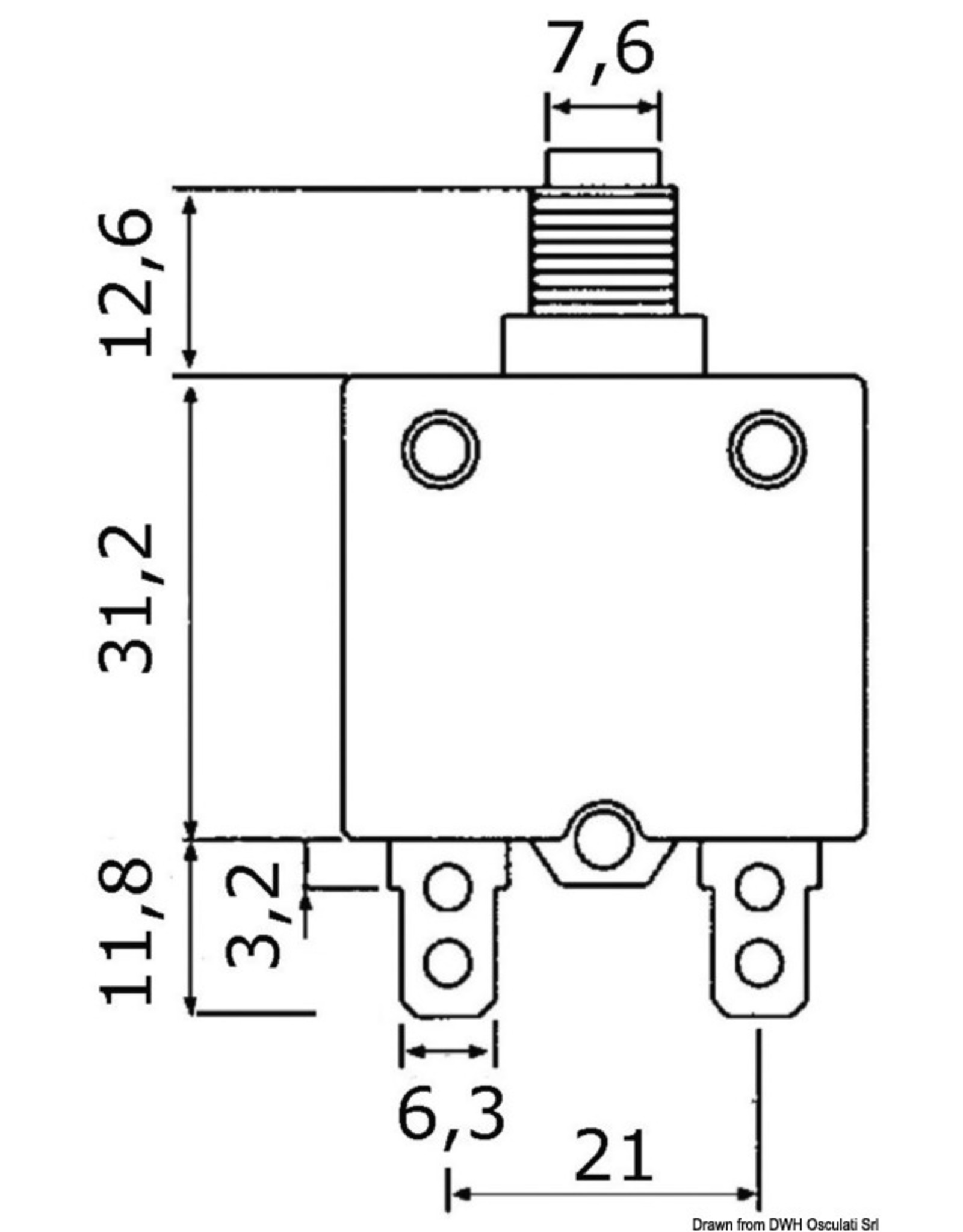Osculati Automatische zekering thermische beveiliging 5 A / 10 A
