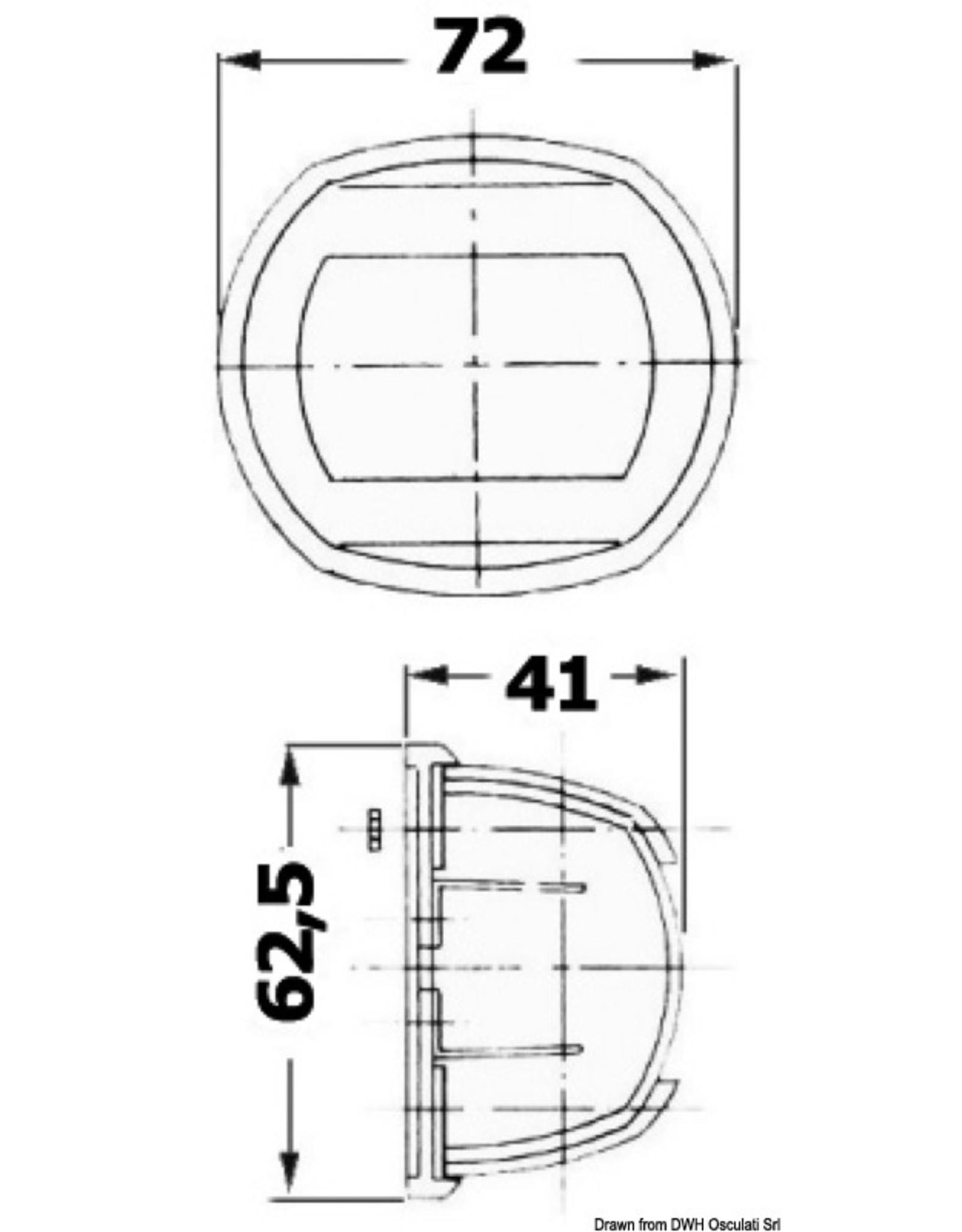 Osculati Compact 12 AISI 316 / wit heknavigatielicht