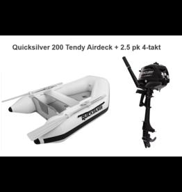 Quicksilver Quicksilver 200 Tendy Airdeck + Mercury 2.5/3.5 pk 4-takt