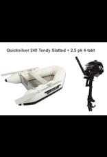 Quicksilver Quicksilver 240 Tendy Slatted + Mercury 2.5/4 pk 4-takt