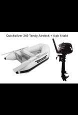 Quicksilver Quicksilver 240 Tendy Airdeck + Mercury 2.5/4 pk 4-takt
