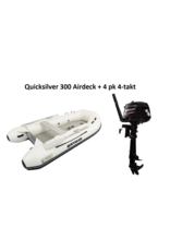 Quicksilver Quicksilver 300  Airdeck + Mercury 4/15 pk 4-takt