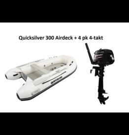 Quicksilver Quicksilver 300  Airdeck + Mercury 4/15 pk 4-takt