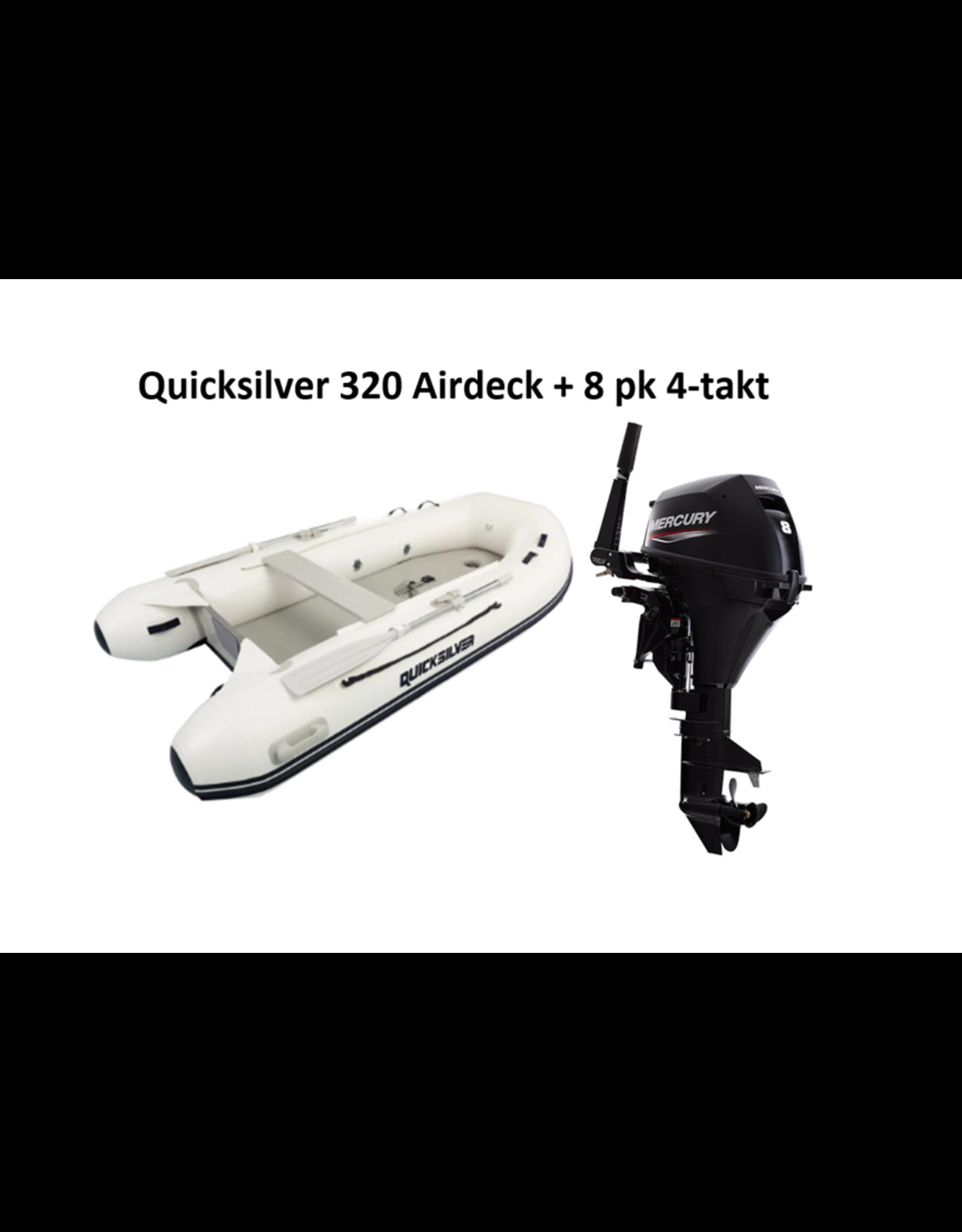 Quicksilver Quicksilver 320  Airdeck + Mercury 4/20 pk 4-takt