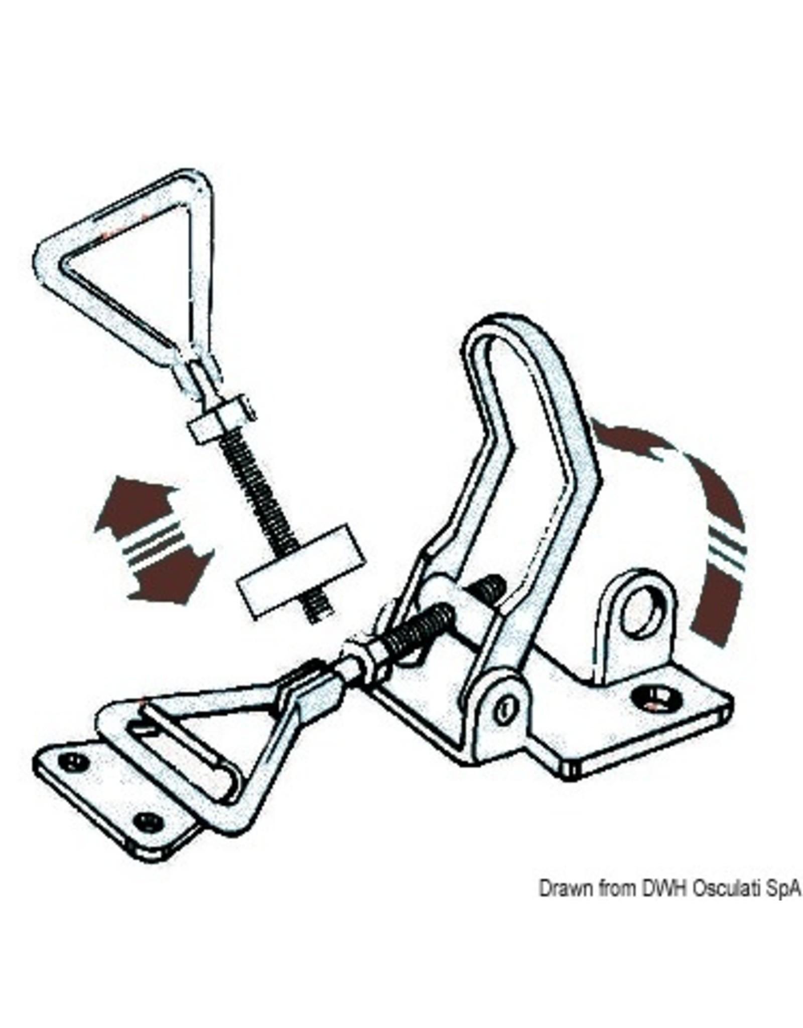 Osculati  RVS sluiting 75-90 mm