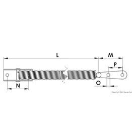 Osculati RVS luiksteun 220 mm A