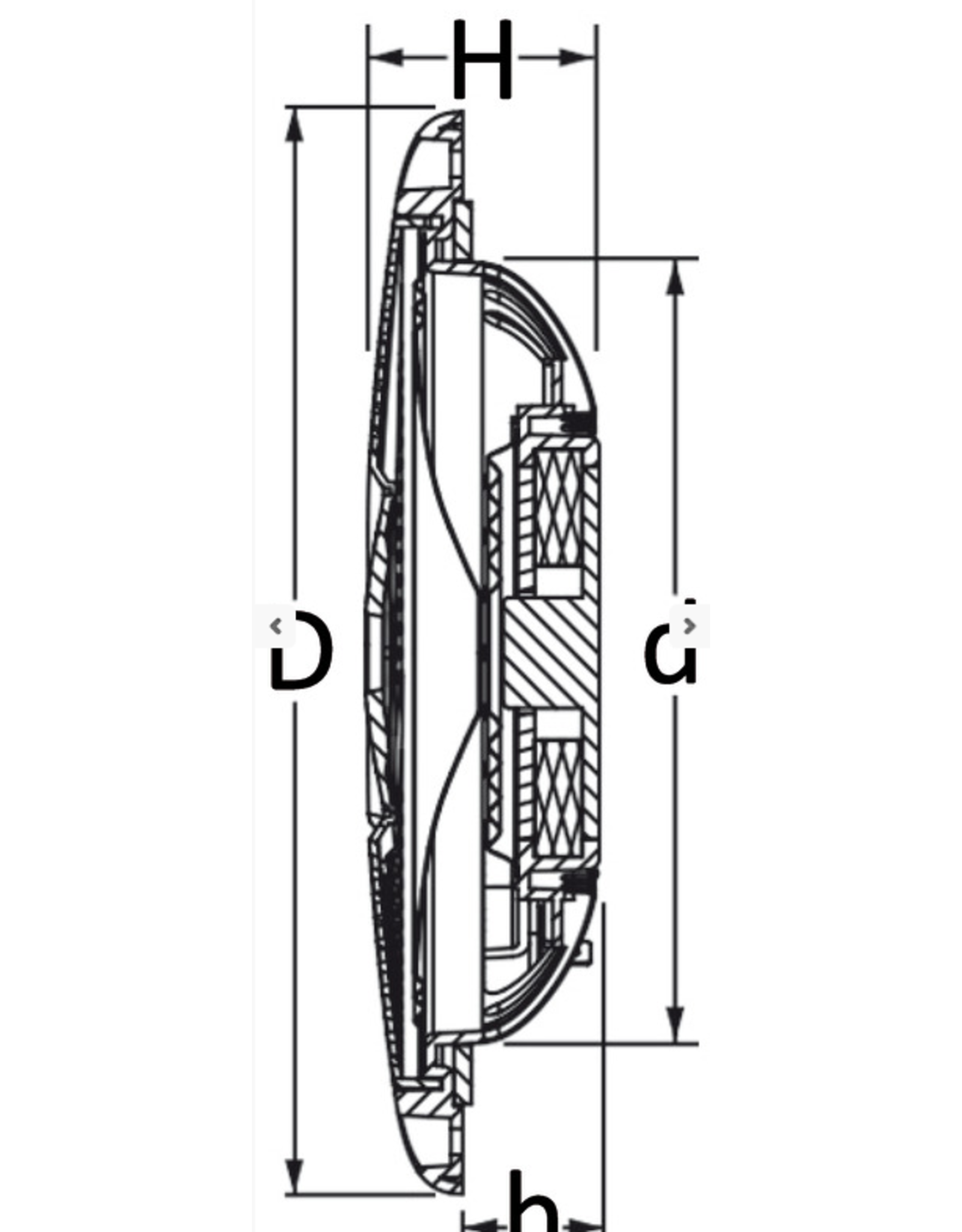 "Osculati  Dual cone ultradunne luidsprekers 4"" - zwart"