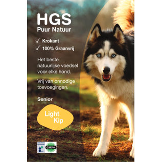 HGS Puur Natuur HGS Puur Natuur Hondenbrokken Senior/Light Kip (Krokante & Graanvrij brok)