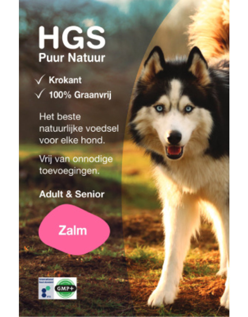 HGS Puur Natuur HGS Puur Natuur Hondenbrokken Adult & Senior Zalm (Krokante & Graanvrij brok)