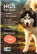HGS Puur Natuur HGS Puur Natuur Hondenbrokken Adult & Senior Lam (Krokante & Graanvrij brok)