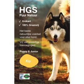 HGS Puur Natuur Puppy & Junior Kip (Krokante & Graanvrij brok)