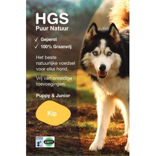 HGS Puur Natuur Hondenbrokken Puppy & Junior Kip (Geperst & Graanvrij) - GRATIS thuisbezorgd!