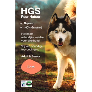 HGS Puur Natuur HGS Puur Natuur Hondenbrokken Adult & Senior Lam (Geperst & Graanvrij)