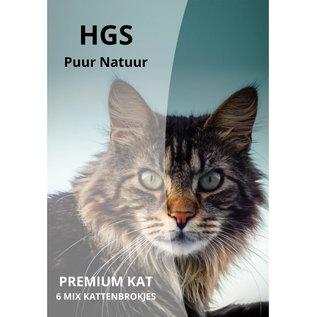 HGS Puur Natuur HGS Puur Natuur Premium Kat 6 Mix Kattenbrokjes 10 KG