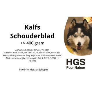 HGS Puur Natuur HGS Puur Natuur 100% Natuurlijk Kalfs Schouderblad +/- 400 gram