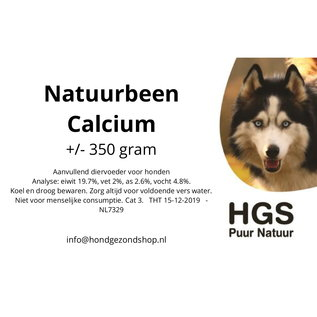 HGS Puur Natuur HGS Puur Natuur 100% Natuurlijk Natuurbeen Calcium +/- 350 gram