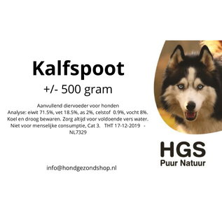 HGS Puur Natuur HGS Puur Natuur 100% Natuurlijke Kalfspoot +/- 500 gram