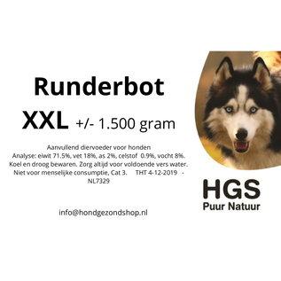 HGS Puur Natuur HGS Puur Natuur 100% Natuurlijk Runderbot XXL +/- 1.500 gram