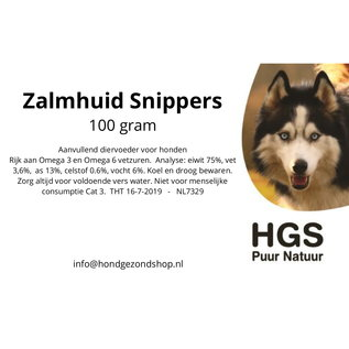 HGS Puur Natuur HGS Puur Natuur 100% Natuurlijke Zalmhuid Snippers