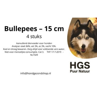 HGS Puur Natuur HGS Puur Natuur 100% Natuurlijke Bullepees - 15 cm