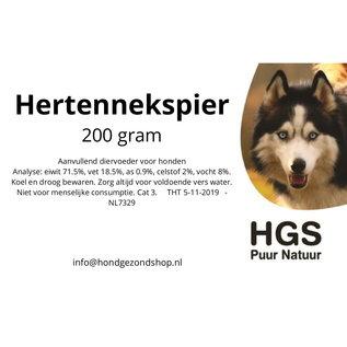 HGS Puur Natuur HGS Puur Natuur 100% Natuurlijk Herten Nekspier 200 Gram