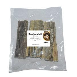 HGS Puur Natuur Kabeljauwhuid - 50 gram