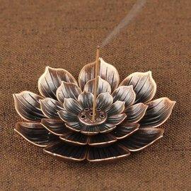 Bronzen Lotus wierook brander