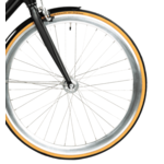 Front wheel with parts