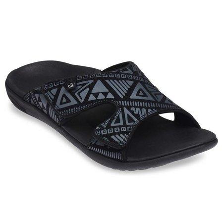 Spenco Spenco Kholo Tribal slippers met velcro sluiting