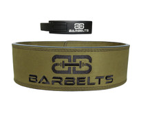 Barbelts Lever belt groen - powerlift riem