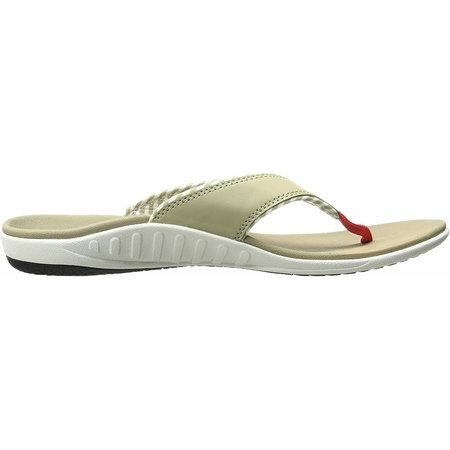 Spenco Spenco Yumi Candy Stripe Tan slippers - dames