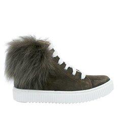 ELI sneaker bruin fur