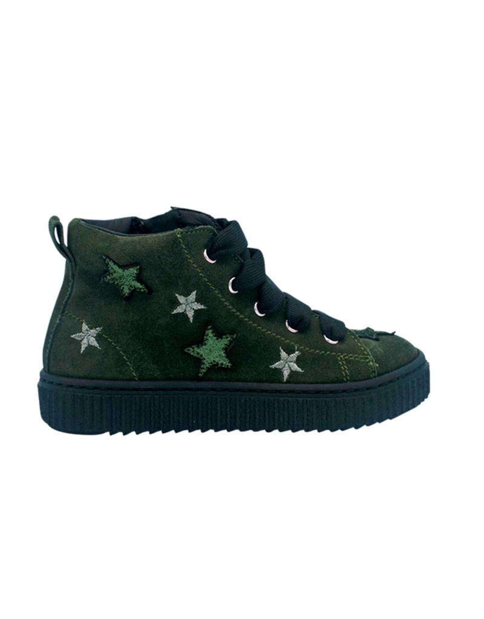 RONDINELLA RONDINELLA sneaker groen sterren