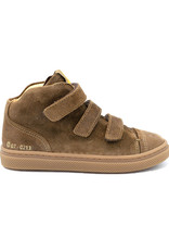 OCRA OCRA hoge bruine sneaker velcro
