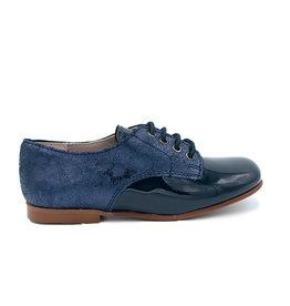ELI ELI chaussure à lacets en cuir bleu verni