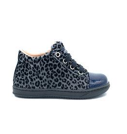 RONDINELLA sneaker blauw luipaard