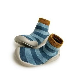 COLLEGIEN COLLEGIEN  pantoffel blue stripes
