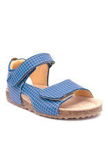OCRA OCRA sandaal blauw kotjes