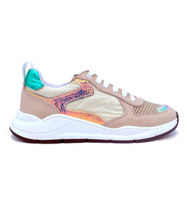 LEPI LEPI sneaker roze reflecterend blauw