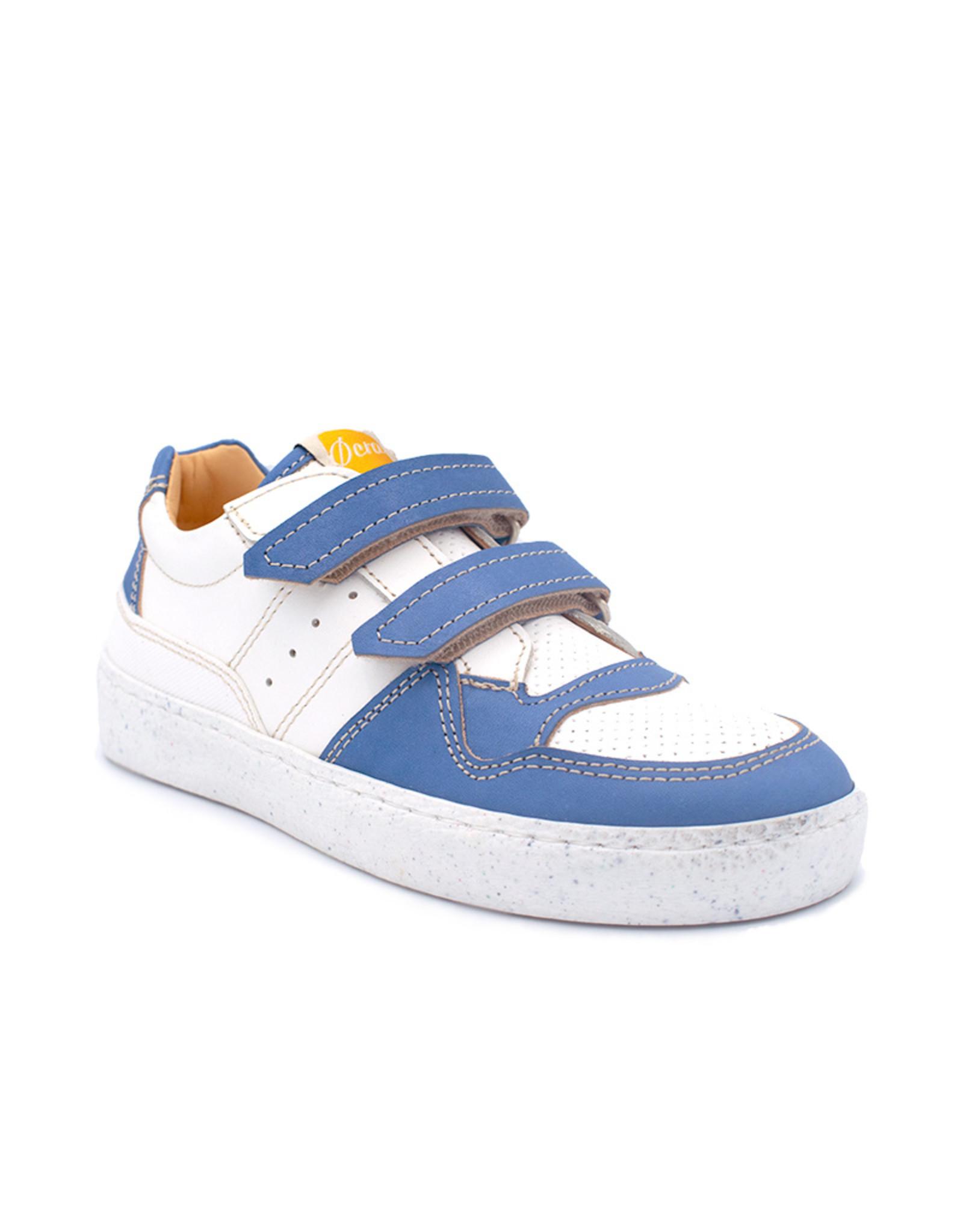OCRA sneaker blauw wit velcro