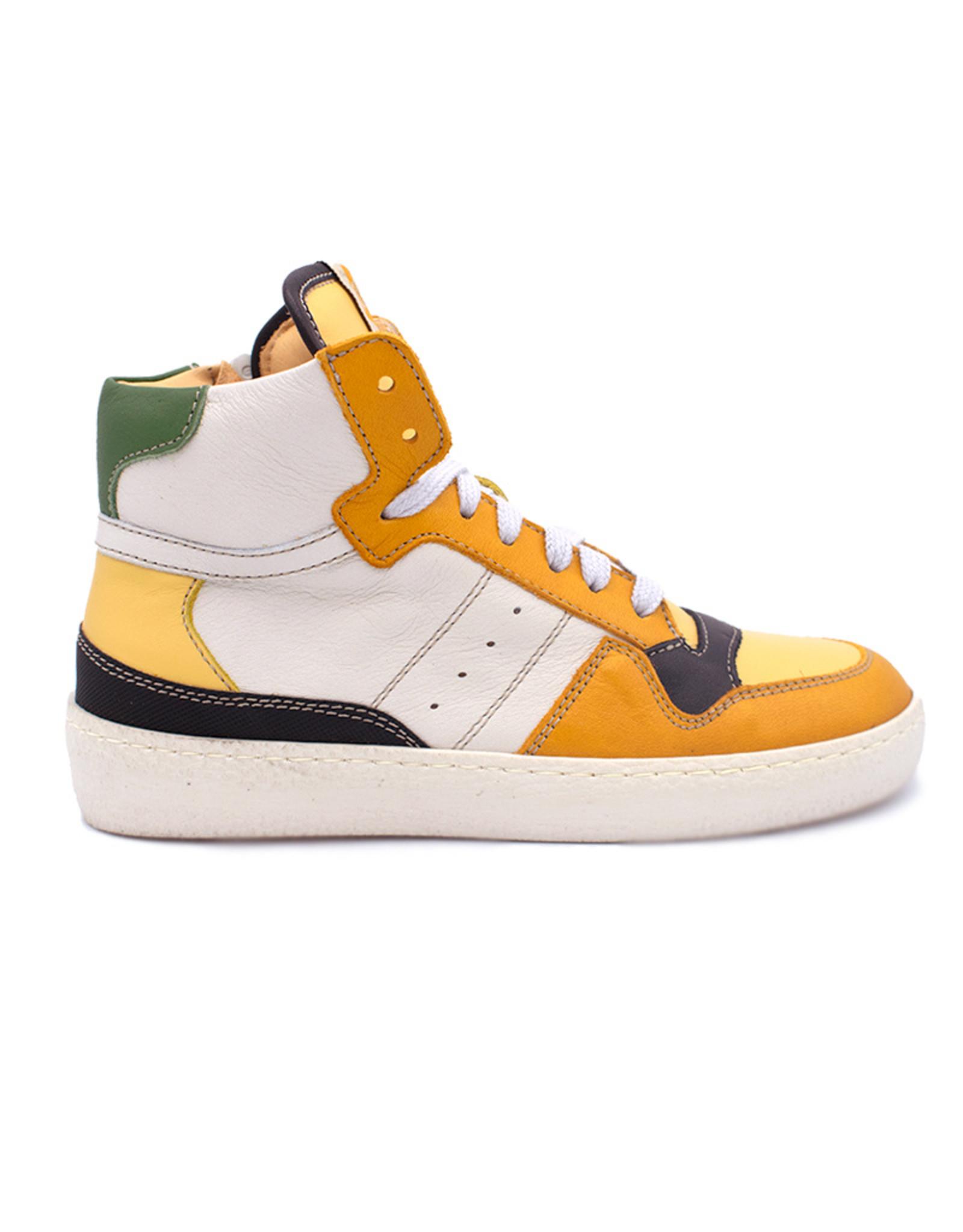 OCRA OCRA hoge sneaker geel