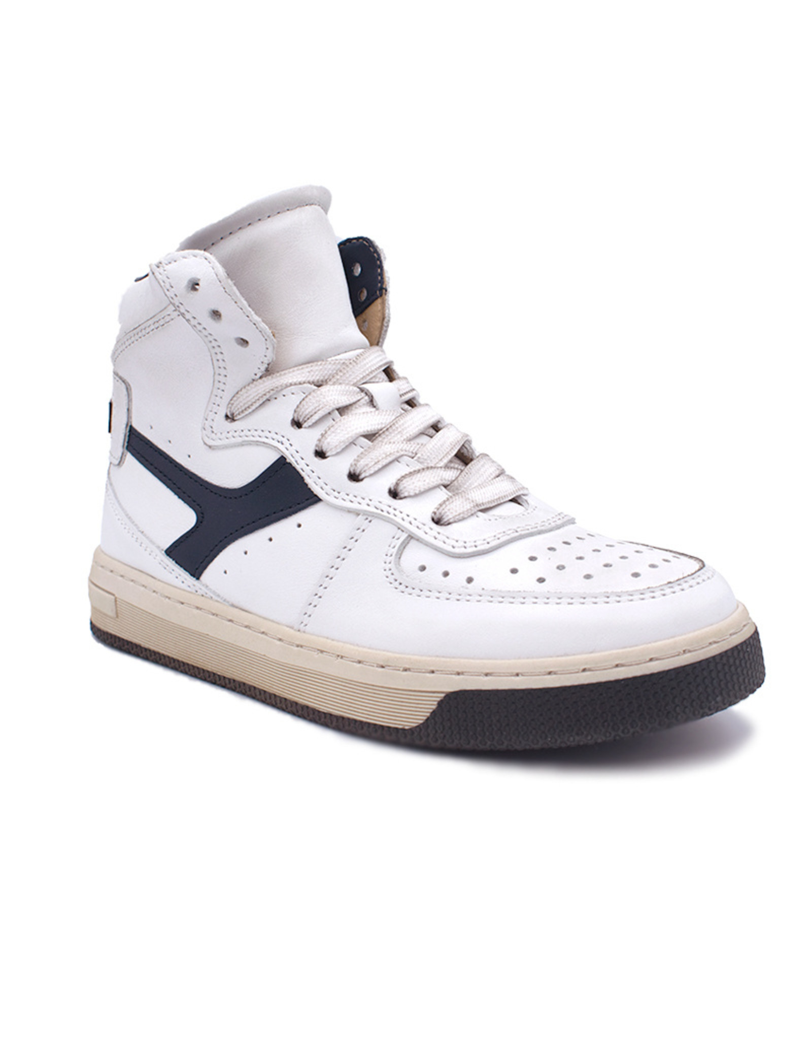 HIP HIP hoge sneaker wit blauw veters